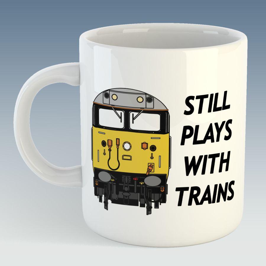 Still Plays with Trains Mug - Class 50