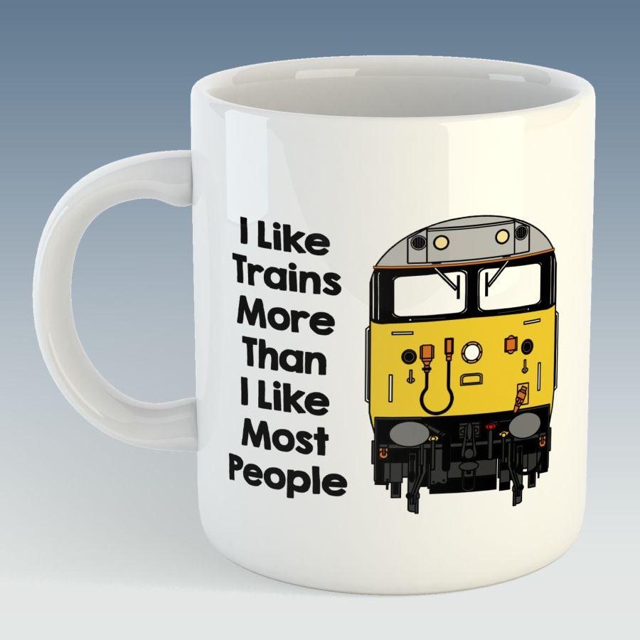 I like trains more than I like most people Mug - Class 50