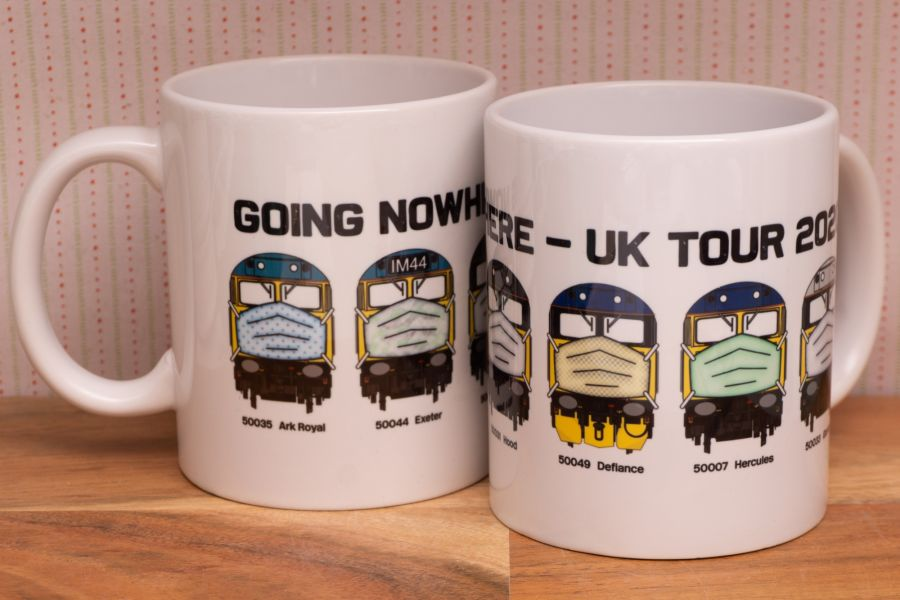 Going Nowhere UK Tour Mug - All 6 locos