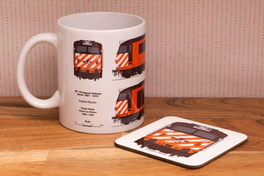 CP 1800 Line Drawing Mug (Optional coaster)