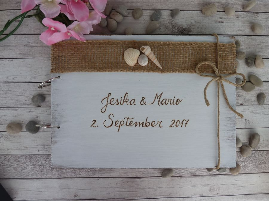 Ring Gox Guestbook And Card Box Weeding Set Rustic