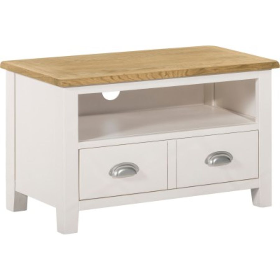 New England TV Stand with 2 Drawers