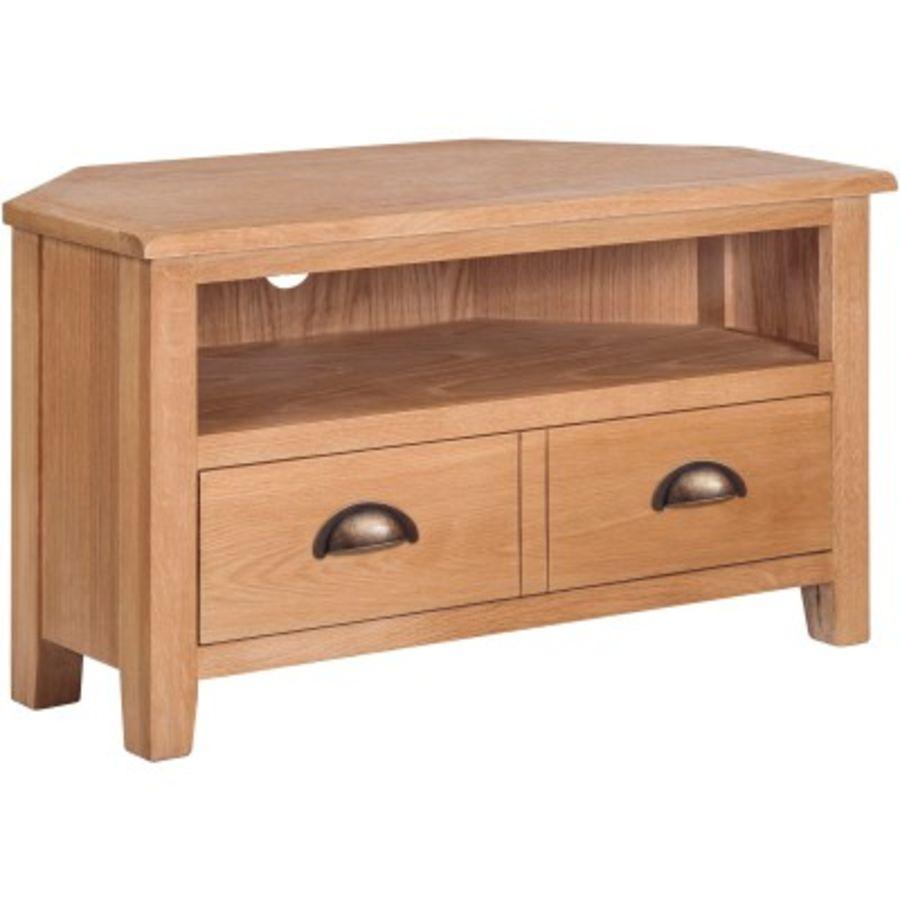 Dorset Oak Corner TV Stand