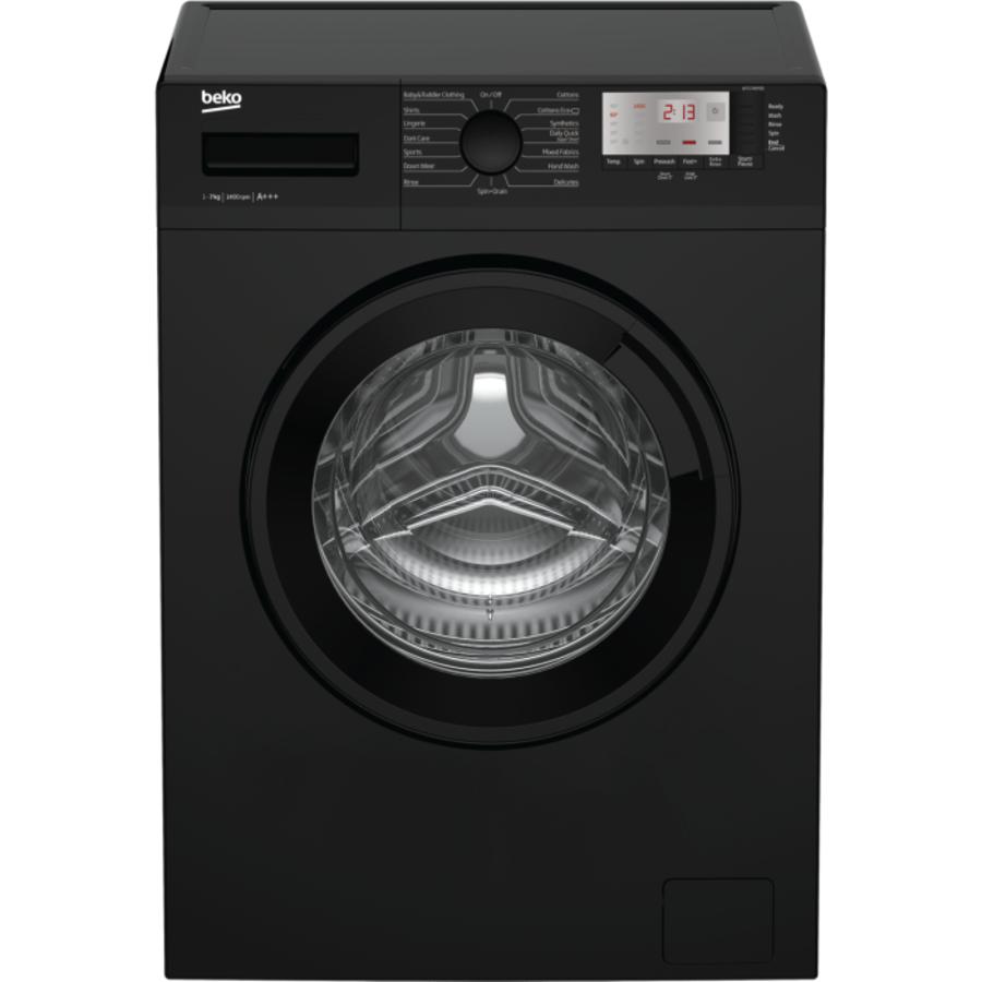 Beko Black Washing Machine WTG741M1B