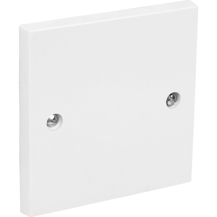2 Gang White Plastic Moulded blank