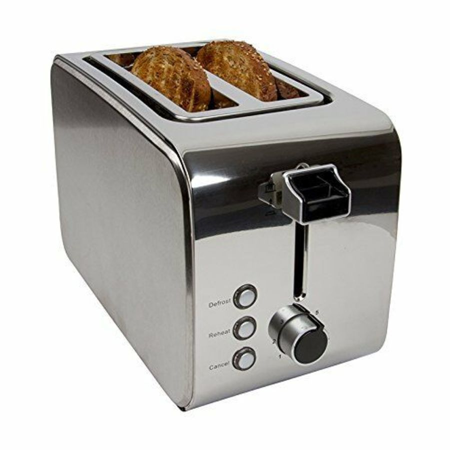 Igenix Brushed and Polished Stainless Steel 2 Slice Toaster IG3202