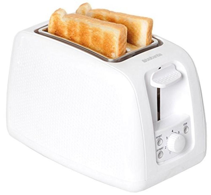 Brabantia White 2 Slice Toaster BBEK1025WHT
