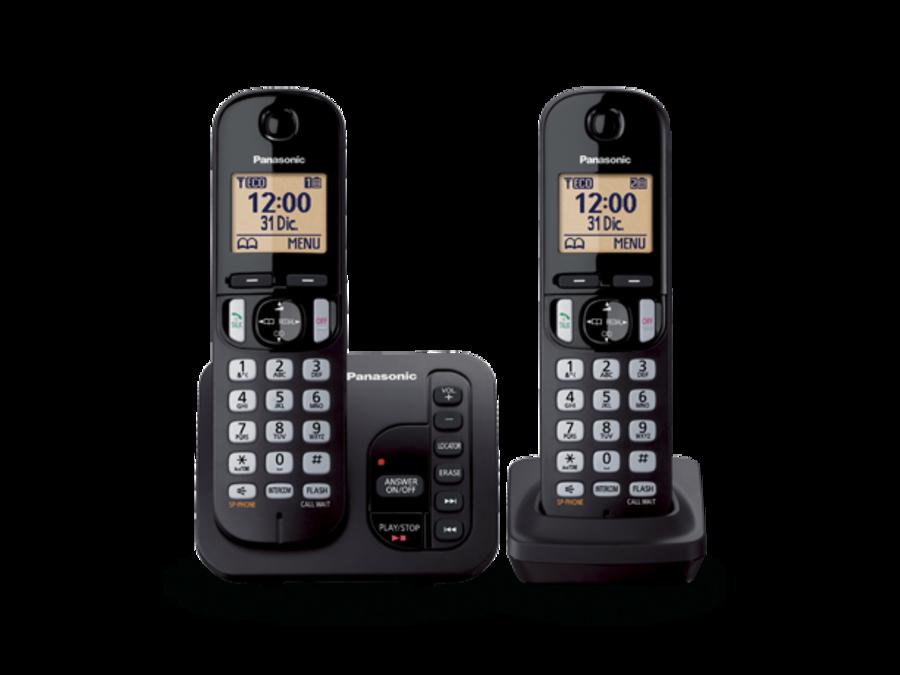 Panasonic Twin Telephone with Answer Machine KX-TGC222