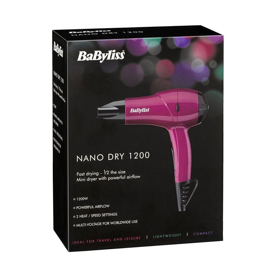 Babyliss Nano Dry 1200 Hairdryer 5282BAU
