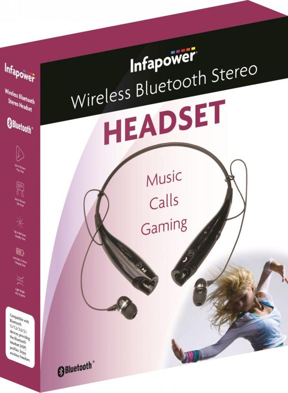 Infapower Wireless Bluetooth Stereo Headset x304BLK