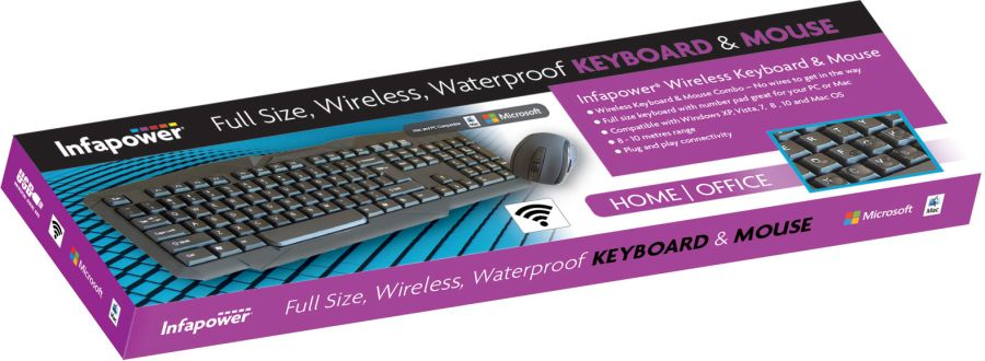 Infapower Wireless Keyboard and Mouse x206
