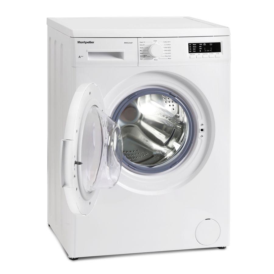 Montpellier 6kg 1200 Spin Washing Machine MW6201P