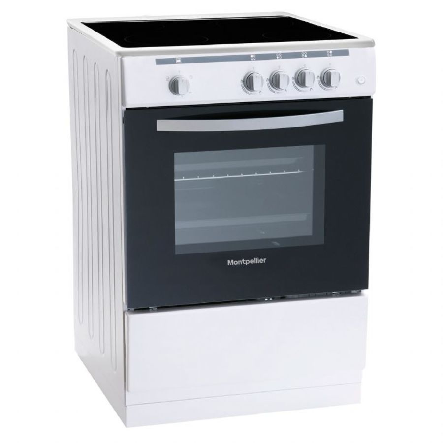 Montpellier White Single Cavity Electric Cooker MSC60FW