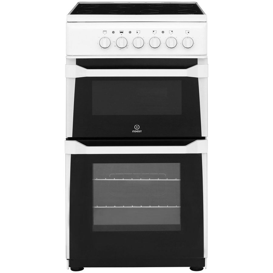 Indesit Twin Cavity White Electric Cooker IT50CWS