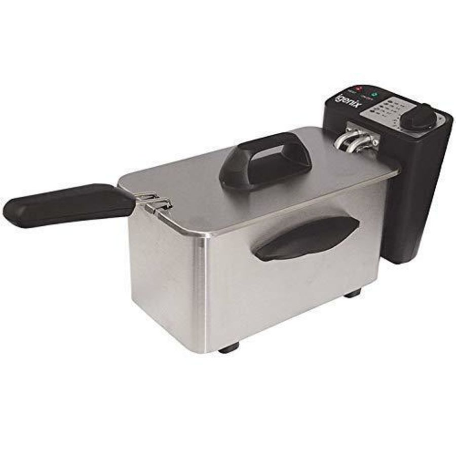 Igenix 1.5 Litre Mini Fryer Brushed Stainless Steel IG8015