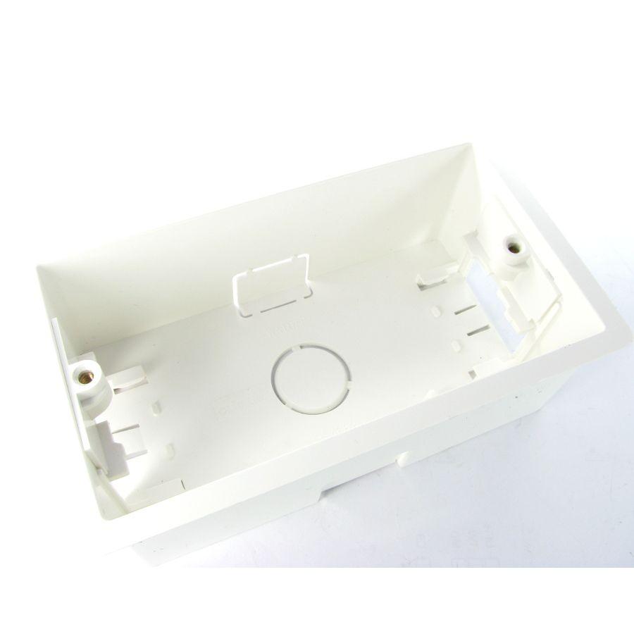 Twin Cavity White Plastic Back Box
