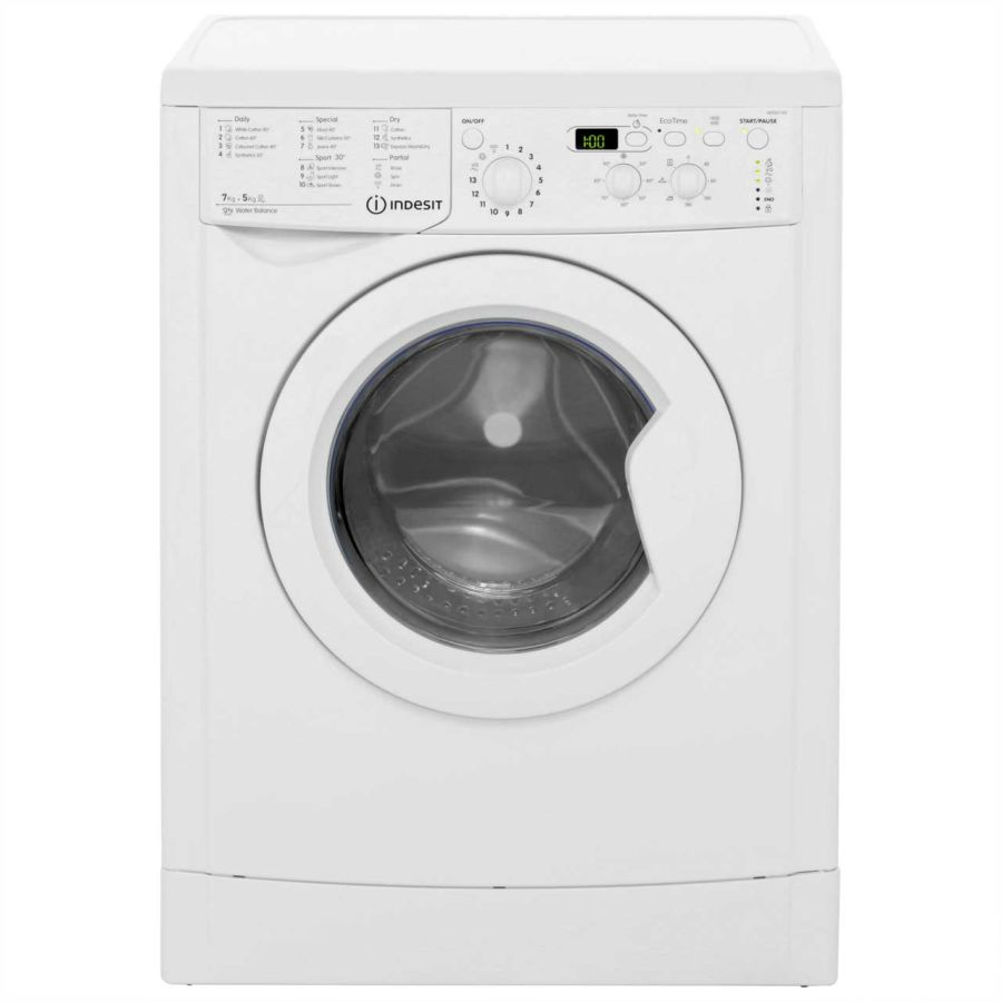 Indesit 7kg 1400 Spin Washer Dryer IWDD7143