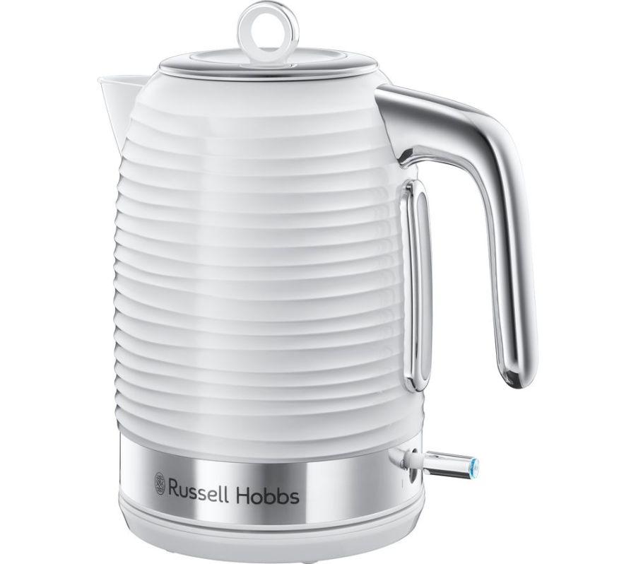 Russell Hobbs 1.7 Ltr White 'Inspire' Rapid Boil Jug Kettle 24360