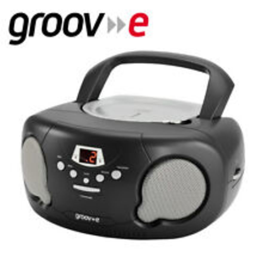 Groove Boombox Portable CD Player with Radio GV-PS733