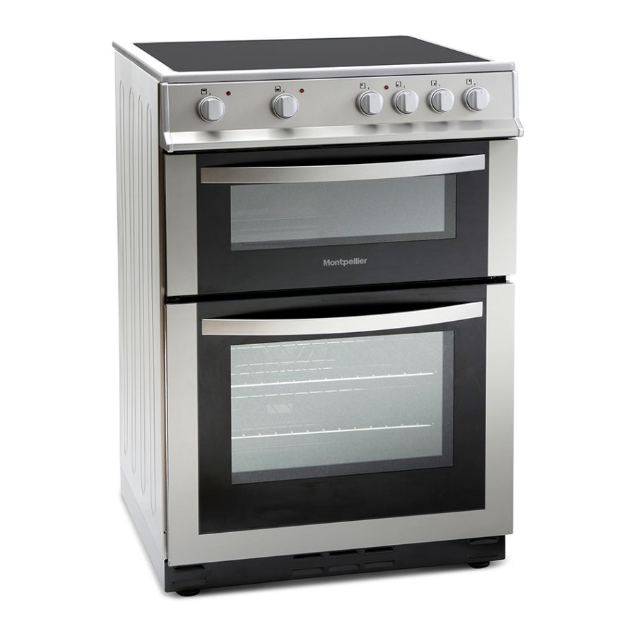 Montpellier Silver Electric Double Oven MDC600FS