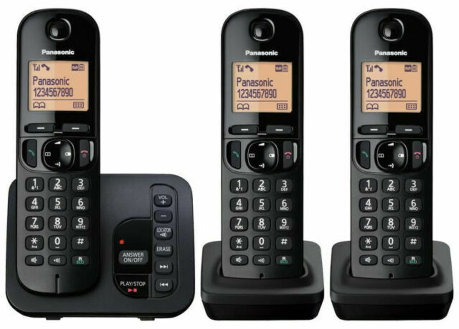 Panasonic Triple Handset Telephone with Answer Machine KX-TGC223