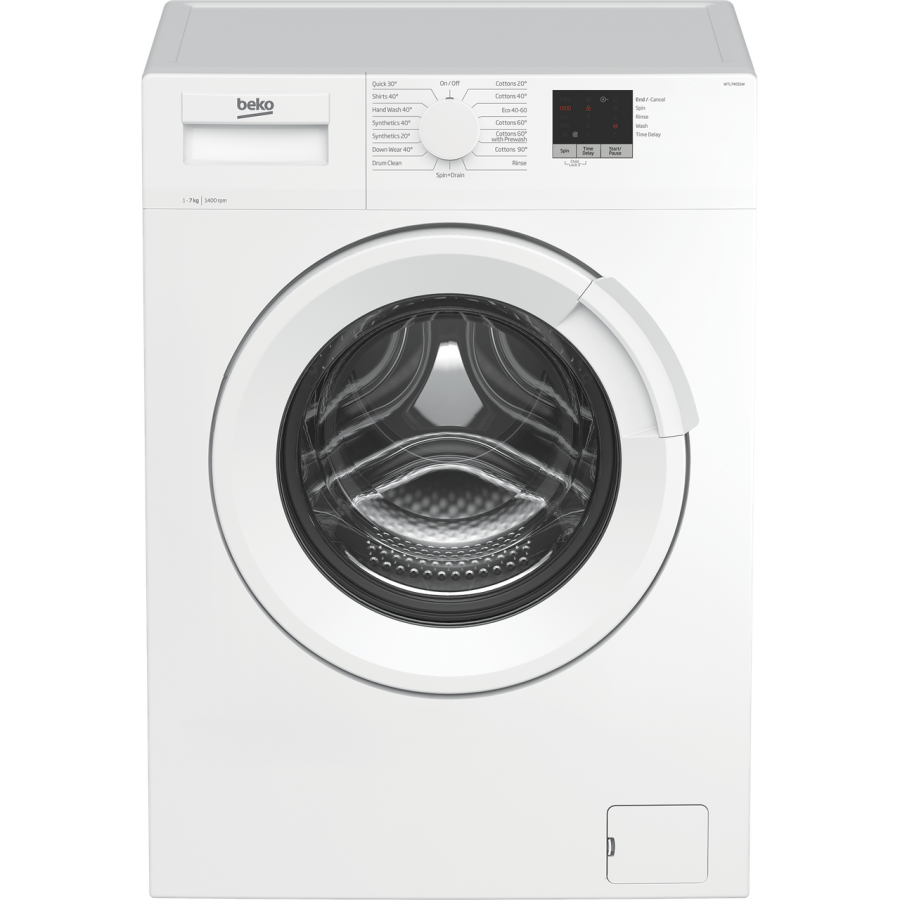 Beko White 7kg, 1400 Spin Washing Machine WTL74051W
