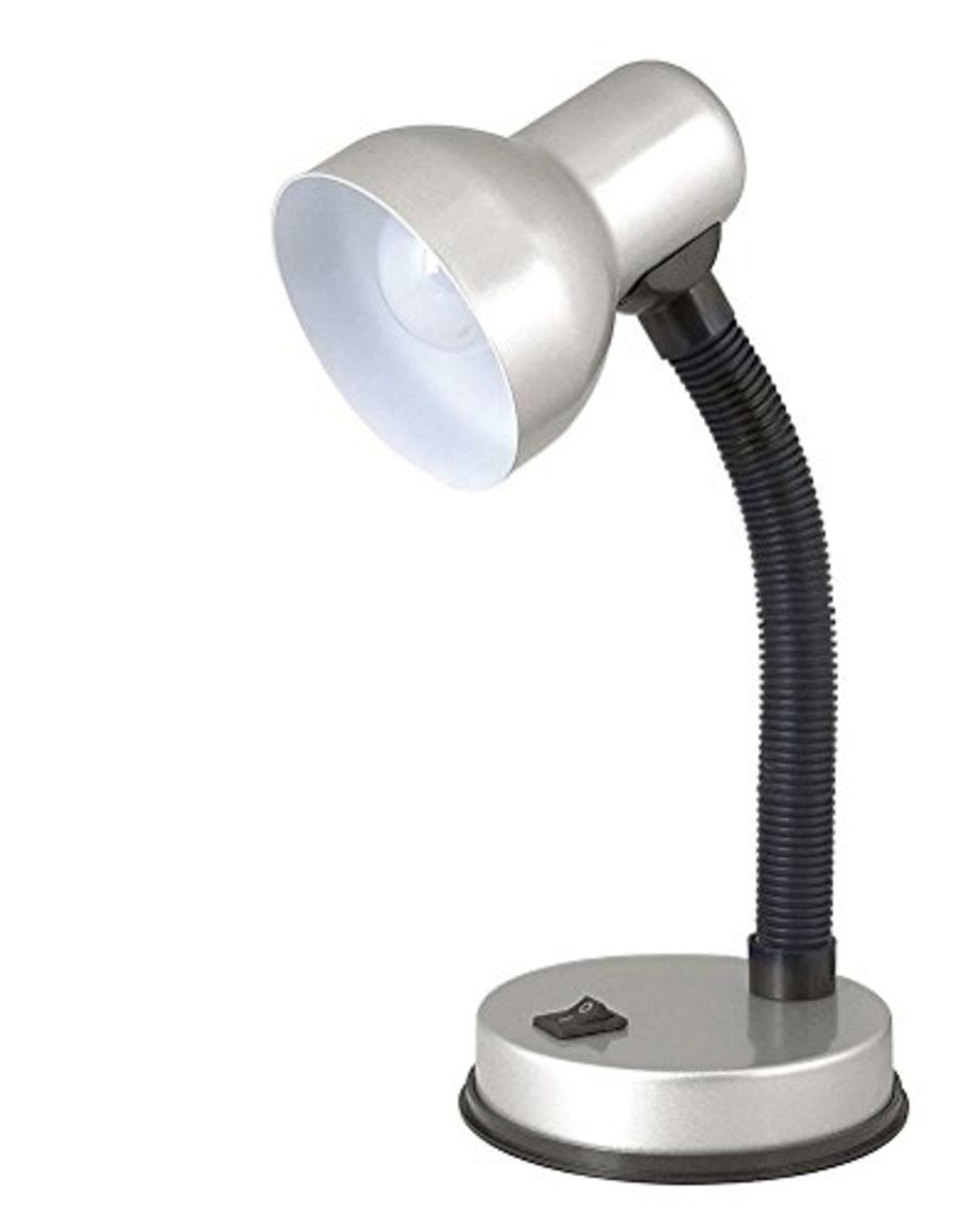 Lloytron 35w 'Mini Classic' Small Silver Flexi Desk Lamp L961SV