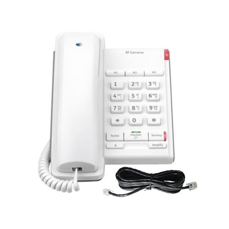 BT Converse 2100 White Corded Phone 040205