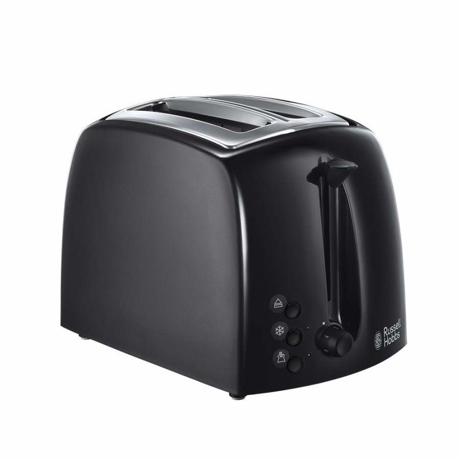Russell Hobbs Textures Black 2 Slice Plastic Toaster 21641