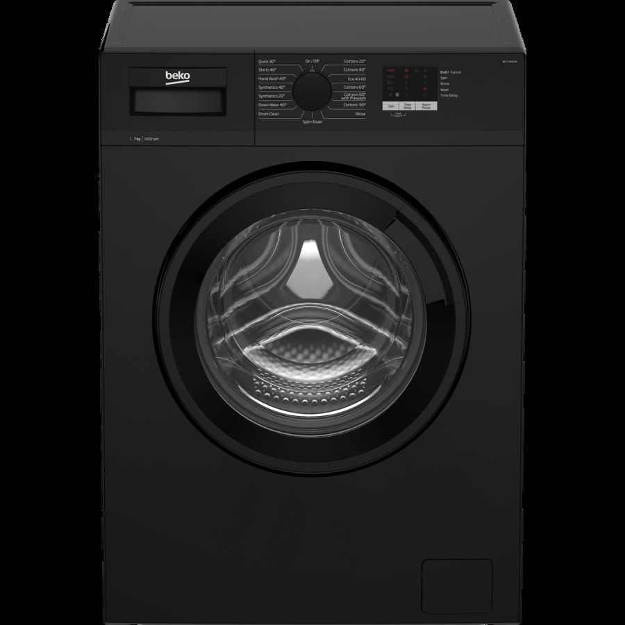Beko Black 7kg 1400 Spin Washing Machine WTL74051B