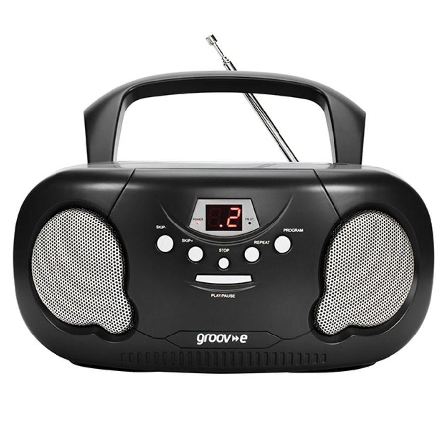 Groove Portable CD Radio Boombox Black GV7331