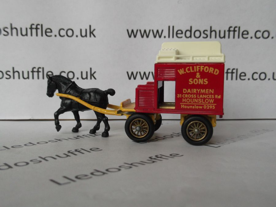 DG02003, Horse Drawn Milk Float, W Clifford & Sons, Dairymen of Hounslow