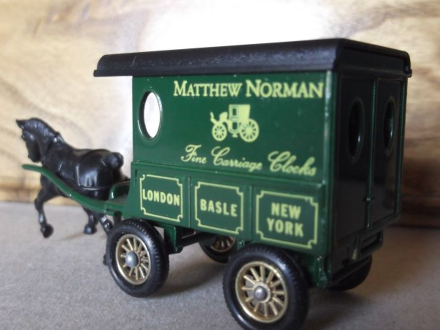 DG03006, Horse Drawn Delivery Van, Matthew Norman, Fine Carriage Clocks