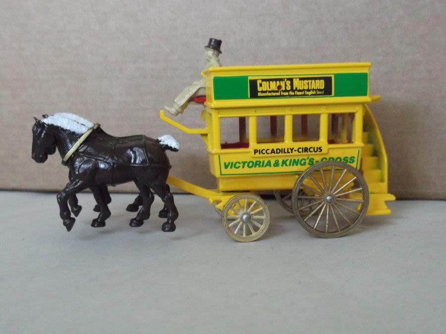 DG04012, Horse Drawn Omnibus, Colman's Mustard, Long Tailed Horse