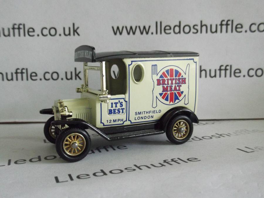DG06003b, Model T Ford Van, British Meat, Black Roof