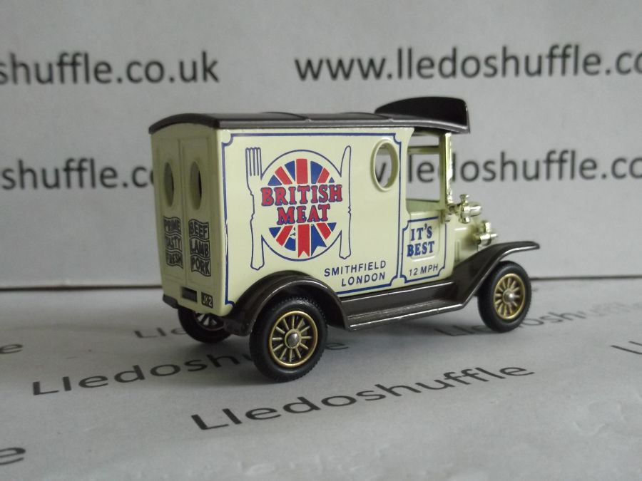 DG06005, Model T Ford Van, British Meat (text on rear doors)