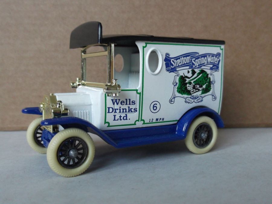 DG06011, Model T Ford Van, Stretton Spring Water, Blue Chassis