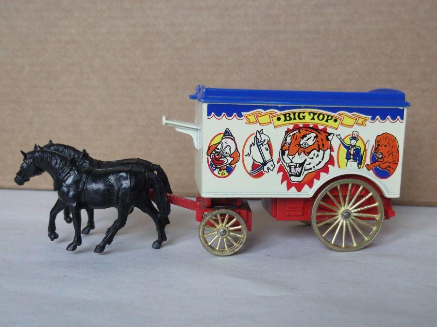DG11002, Horse Drawn Removal Van, Big Top Circus,  black horses