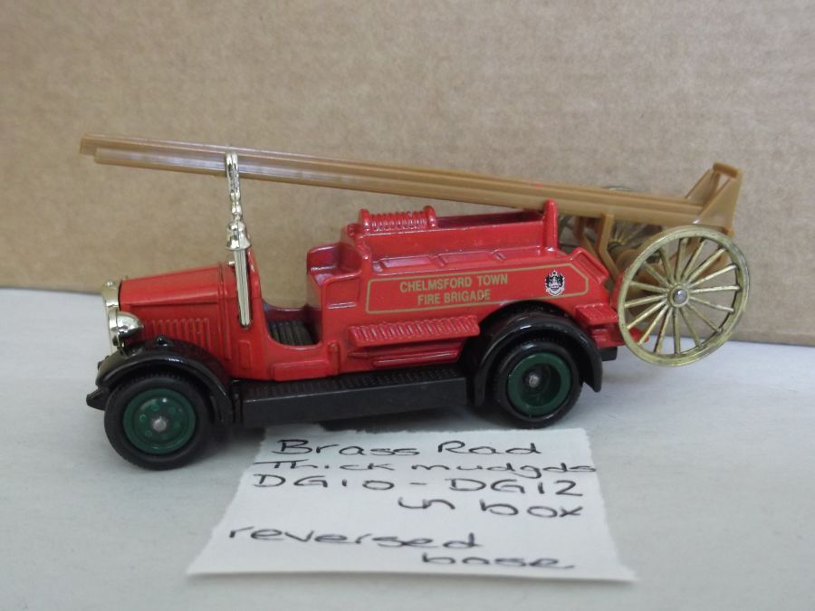 DG12005a, Dennis Fire Engine, Chelmsford Town Fire Brigade, reversed baseplate