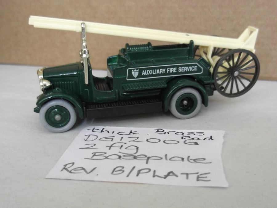 DG12006, Dennis Fire Engine, Auxiliary Fire Service, Reversed baseplate