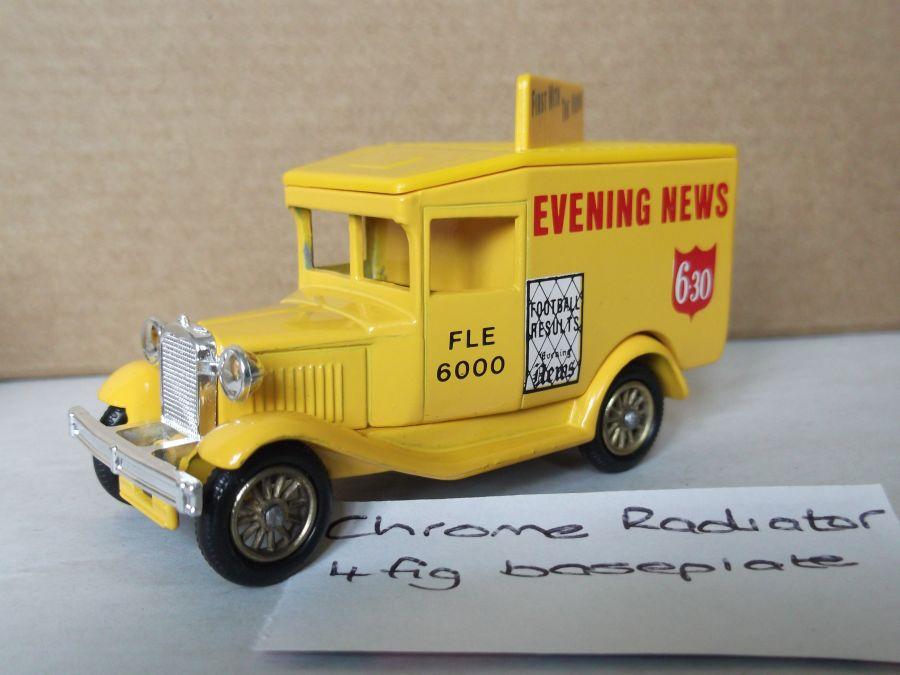 DG13001, Model A Ford Van, Evening News
