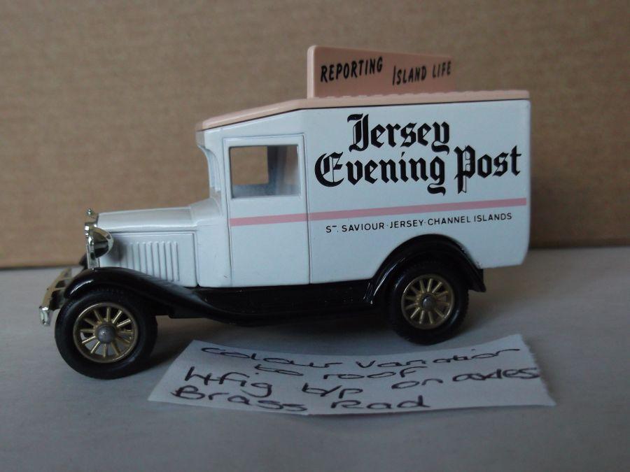 DG13006, Model A Ford Van, Jersey Evening Post