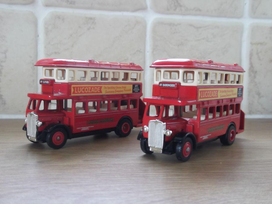 DG15040, AEC Regent Bus, Lucozade