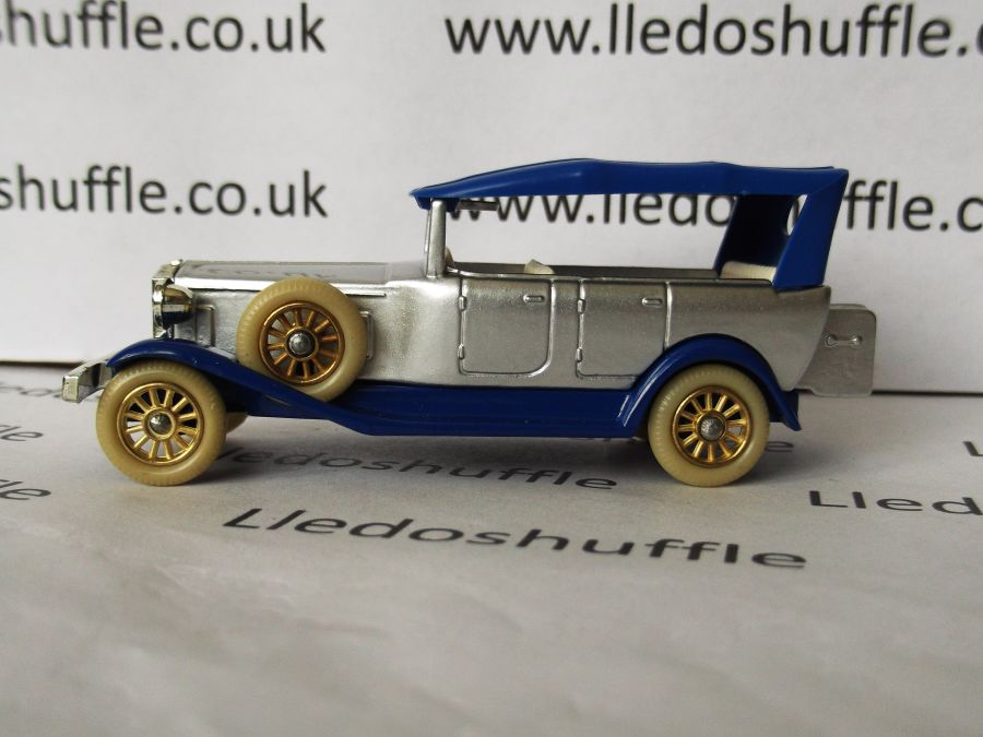 DG25001, Rolls Royce Silver Ghost Barker, Silver with blue roof