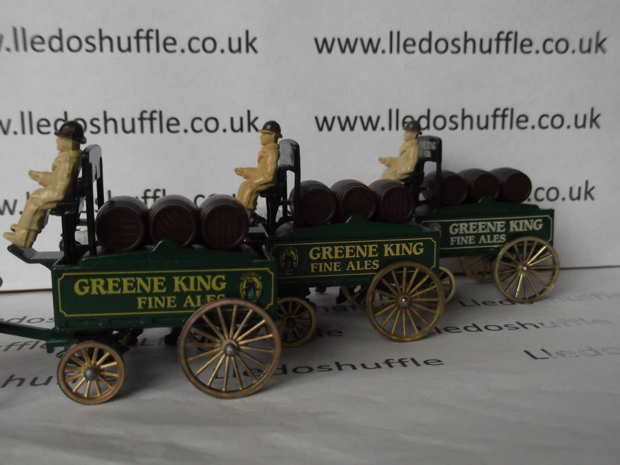 DG31003, Horse Drawn Brewers Dray, Greene King Fine Ales