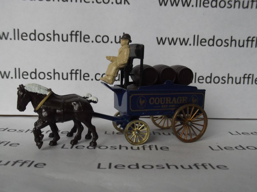 DG31005, Horse Drawn Brewers Dray, Courage Ales
