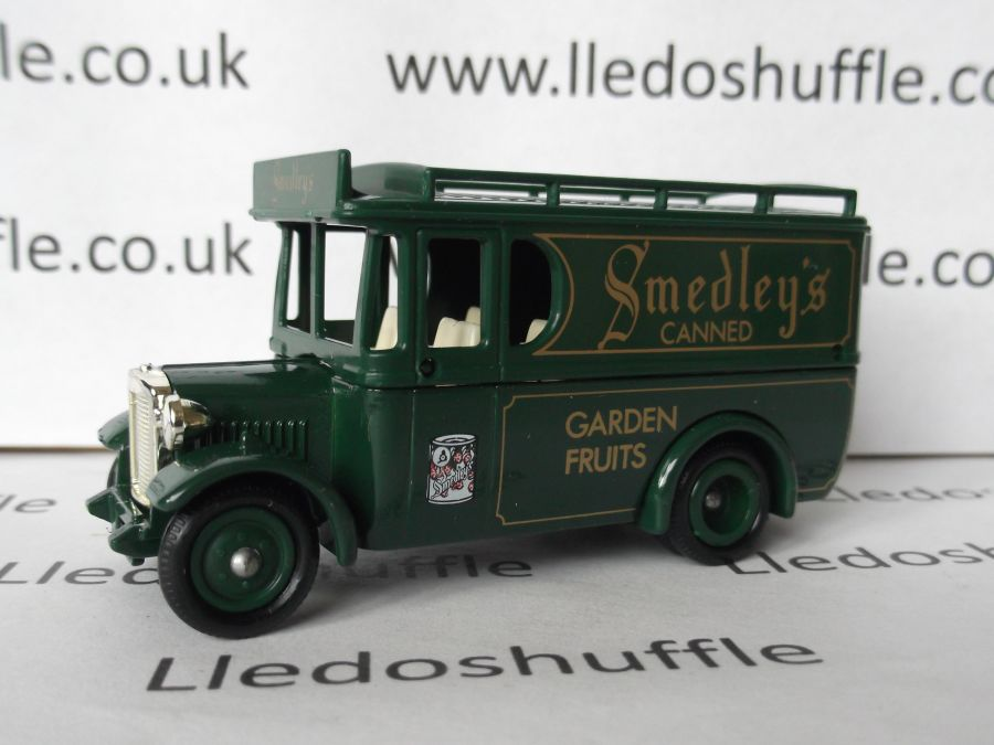 DG34001, Dennis Delivery Van, Smedleys Canned Garden Fruits