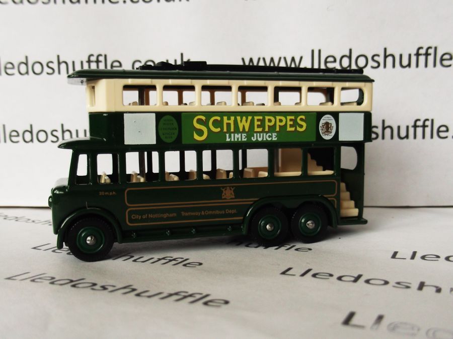 DG41007, Karrier E6 Trolley Bus, City of Nottingham / Schweppes Lime Juice