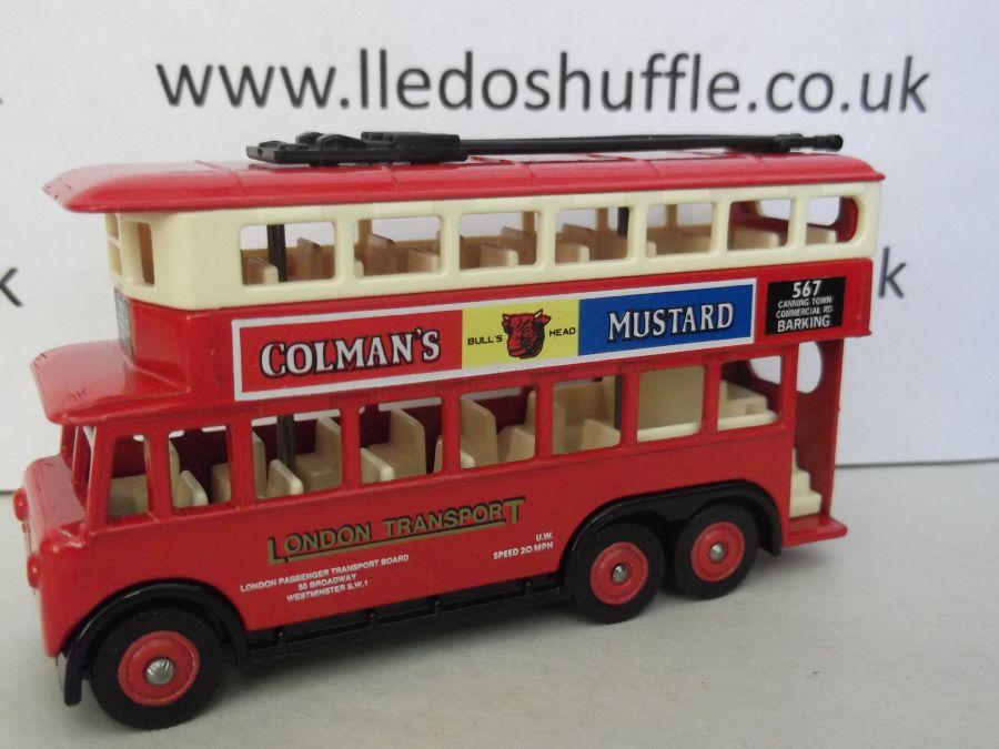 DG41013, Karrier E6 Trolley Bus, London Tpt / Colmans Mustard