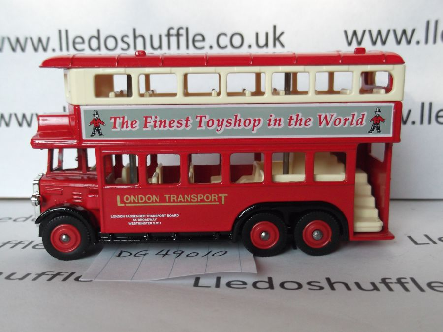 DG49010, AEC Renown D/D Bus, London Transport / Hamleys (grey advert)